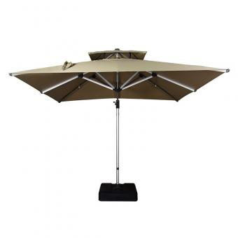 Purple Leaf Double Top Deluxe Patio Umbrella